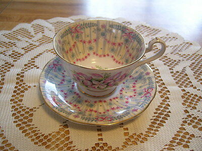 Antique Queen Anne Royal Bridal Gown Bone China Cup & Saucer