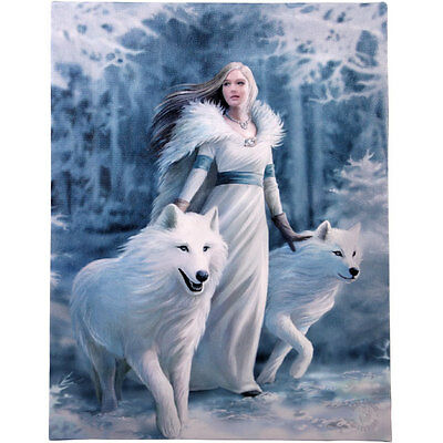 Fantasy Gothic Art Canvas Wall Plaque~Winter Guardian~by Anne Stokes~31~uk