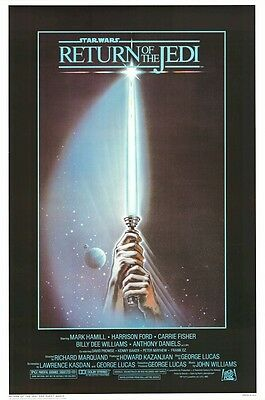 RETURN OF THE JEDI ~ STYLE A 27x40 MOVIE POSTER Star Wars Episode VI 6 Tom Jung