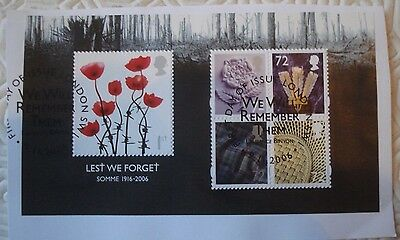 Somme 1916 - 2006 GB minisheet with 5 stamps (2006)
