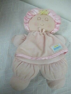 Eden Pink Plush Closed Eye Doll Lovey My First For Baby