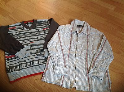 Boys 2 Piece  Jumper And Matching Shirt set Age 5-6. From Mexx.