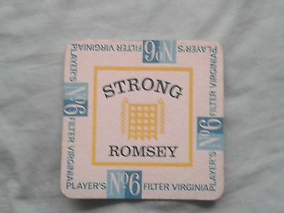 Strongs Brewery / Players No.6  Cigarettes Beer Mat