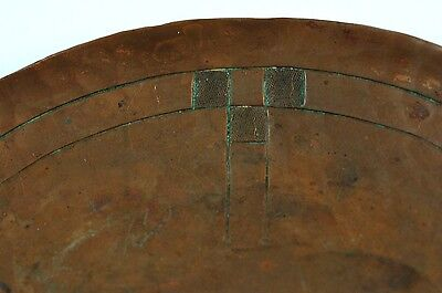 Antique Roycroft 5 ¾ Inch Hammered Copper Plate Dish NR