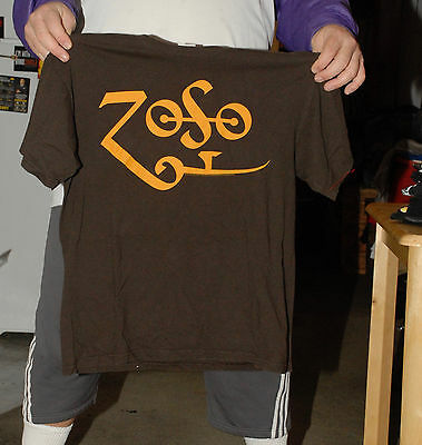 Led Zeppelin Zofo T Shirt Jimmy Page Robert Plant 2009 Nwobhm Heavy Metal