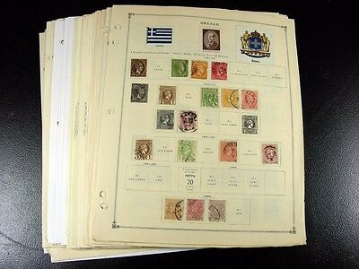 GREECE stamps 19th/20th century with Back of Book on pages  G861