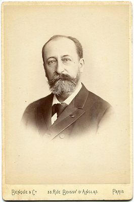 Camille Saint-Saens French Composer Conductor Pianist 1880s Cabinet Card Photo