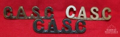 WW1 era, Canadian Army Service Corps C.A.S.C. Shoulder Title lot of 3 (Inv9198)