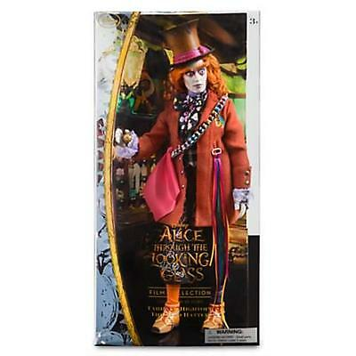 """New Disney Store Mad Hatter Alice Through The Looking Glass 12"""" Doll Johnny Depp"""