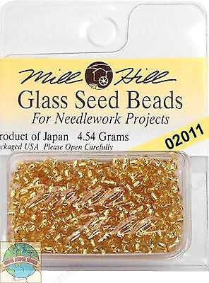 Mill Hill Glass Seed Beads 4.54g Victorian Gold #02011