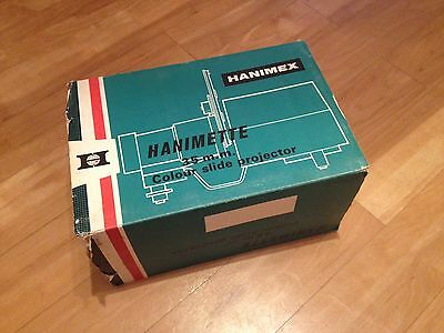 Vintage Hanimex Hanimette 35mm Colour Slide Projector - boxed with instructions