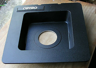 Cambo SC Monorail recessed lens board for copal 1 41.7mm hole 5x4 10x8 30mm deep