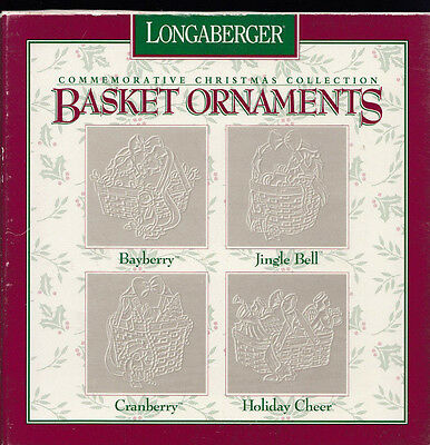 1997 Longaberger Pewter Christmas Ornaments Basket Tie-On MIB