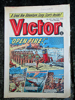 VICTOR Comic - Issue 651 - Date 11/08/1973 - UK Paper Comic