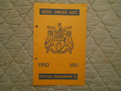 Leeds Utd V Notts County Second Division Match Programme November 1950