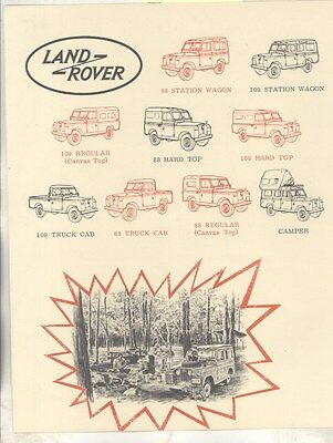 1965 1966 ? Land Rover 88 Station Wagon Brochure ww4898