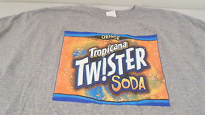 Tropicana Orange Twister Soda Gray  T Shirt