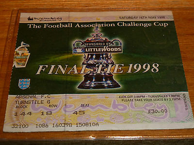 1998 Fa Cup Final  Arsenal V Newcastle  Ticket