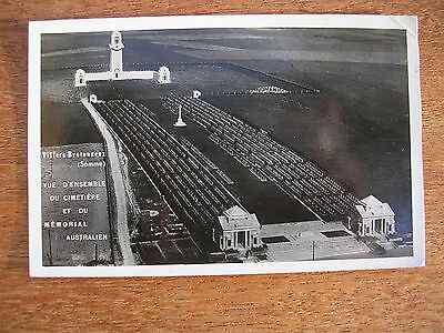 The Somme, Australian Cemetery, Aerial View, P/m 1948