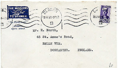 1946 South Africa cover to England
