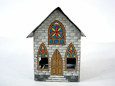 Westmoreland Specialty Tin Church Candy Container No Glass Insert