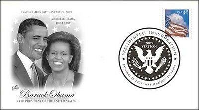 2009 Inauguration Day Cancel ~ Barack Obama ~ Art Craft Envelope