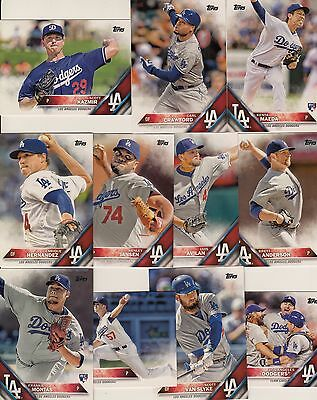 Topps 2016 Series 2 Complete Set LOS ANGELES DODGERS