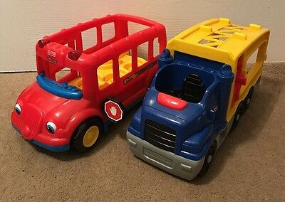 Fisher Price Little People  Car Transporter & Bus