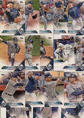 Topps 2016 Series 2 Complete Set TAMPA BAY RAYS