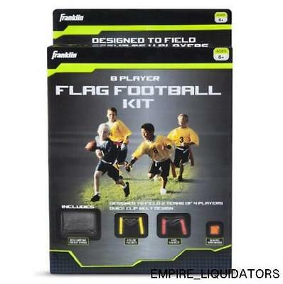 FACTORY SEALED Franklin Sports 8 Player Youth Flag Football Kit