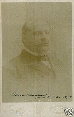 GROVER CLEVELAND Signed Photograph - former US President