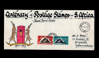 South Africa 1953 Cape Of Good Hope Hand Drawn First Day Cover Johannesburg Cds