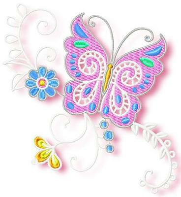 Butterfly Corners Soft 10  Machine Embroidery Designs Cd 4 Sizes