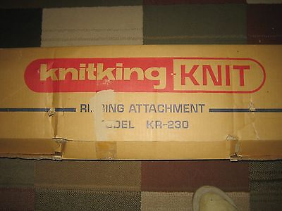 BROTHER KNITKING KR230  KNITTING MACHINE Ribber Chunky Bulky for KH230