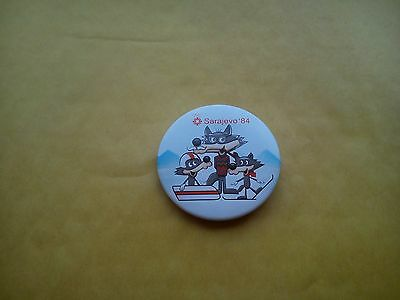 Sarajevo Winter Olympics 1984 Large Official Pin Badge Vucko Wolf Mascot Vgc