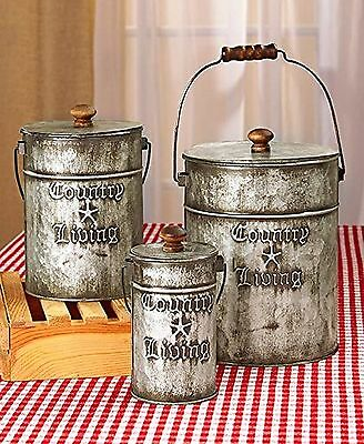 Country Living Home Accents (Set of 3 Canisters)