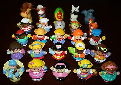 Lot of 25 Little People & Animals Baby Turkey Pirate Fireman Engineer Cat #26