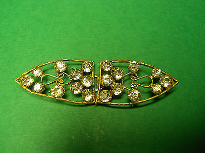 Vintage Estate Jewelry Gold & Diamond Belt/sash Buckle From Checslovakia Lot P7