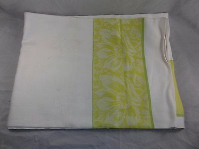Vintage 1960s 100% Cotton Czech Embroidered Table Cloth 172x124cm New Unused