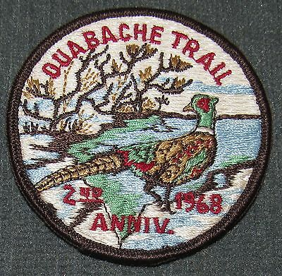 BSA Ouabache Trail 1968 2nd Anniversary Patch #2