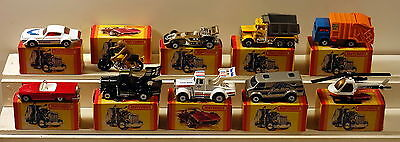 Dte 10 Lesney Matchbox Superfast Yellow Boxed 16 18 28 30 36 42 65 66 68 & 75
