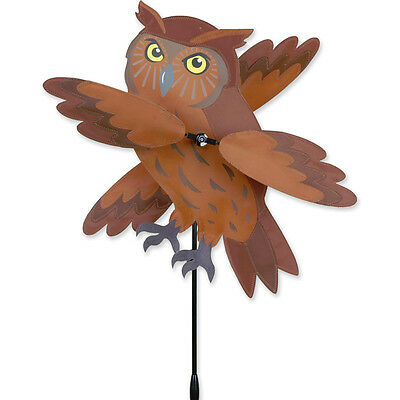 OWL Whirligig Wind Spinner Great Horned owl barn Hoot owl Premier Windspinner