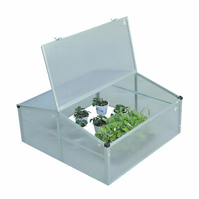 """Outsunny 39"""" Double Side Aluminum Cold Frame Greenhouse w/ Open Roof All Season"""