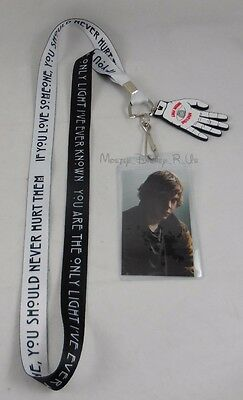 New American Horror Story Tate Quote Love Someone Pin Lanyard ID Card Holder