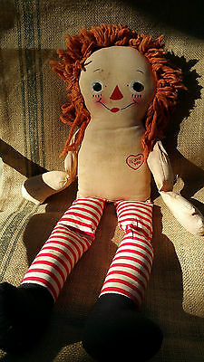 Antique Vintage 1940s RAGGEDY ANN DOLL Johnny Gruelle 19""