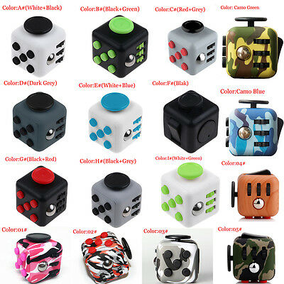 Fidget Fun Cube Anxiety Stress Relief attention Focus 6side Dice Toy For Kids 6+