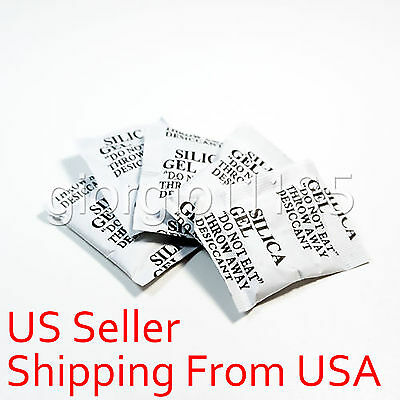 50 packs Dry pack 2 Gram Silica Gel Packets Desiccants Drypack