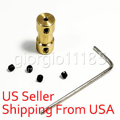 New 2mm ~ 2mm Copper Shaft Coupling Coupler Motor Transmission With Screw