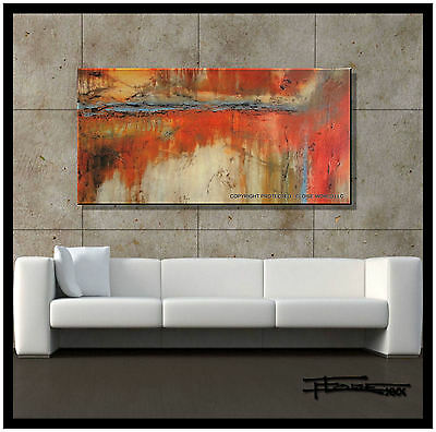 ABSTRACT CANVAS PAINTING MODERN WALL ART SIGNED  ELOISExxx