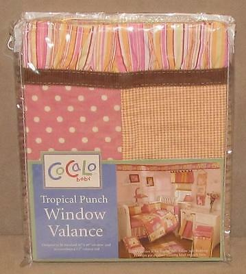 Cocalo Baby Tropical Punch Pink Orange Yellow Nursery Window Valance Block New